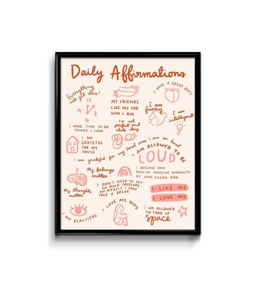 Daily Affirmations Art Print 8x10