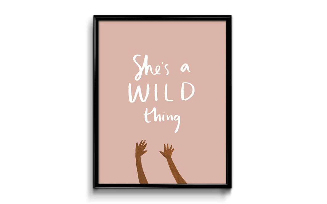 She's A Wild Thing Art Print 8x10