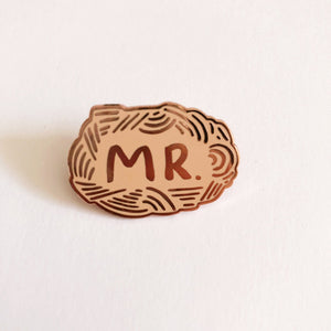 MR. Lapel Hard Enamel Pin