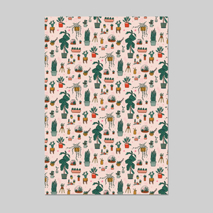 House Plants Wrapping Paper 20x29