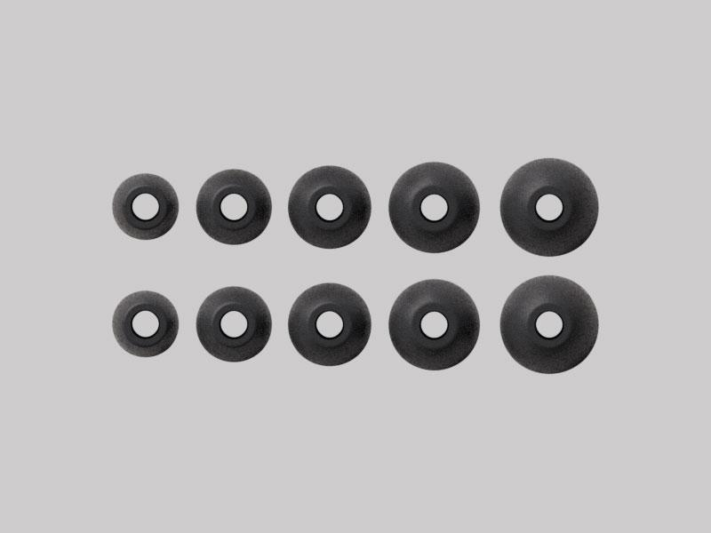 Silicone Ear Tips Black - a-Six, m-Six