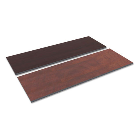 Reversible Laminate Table Top, Rectangular, 71 1-2w X 23 5-8,med Cherry-mahogany