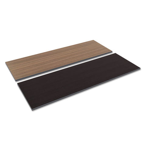 Reversible Laminate Table Top, Rectangular, 71 1-2w X 23 5-8d, Espresso-walnut