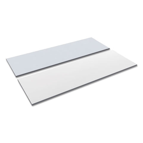 Reversible Laminate Table Top, Rectangular, 71 1-2w X 23 5-8d, White-gray