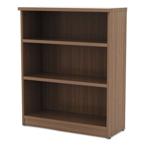 Alera Valencia Series Bookcase, Three-shelf, 31 3-4w X 14d X 39 3-8h, Mod Walnut