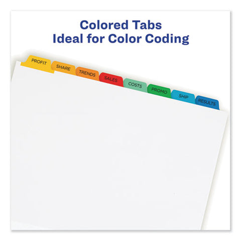 Print And Apply Index Maker Clear Label Dividers, 8 Color Tabs, Letter, 25 Sets