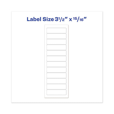 Dot Matrix Printer Mailing Labels, Pin-fed Printers, 0.94 X 3.5, White, 5,000-box