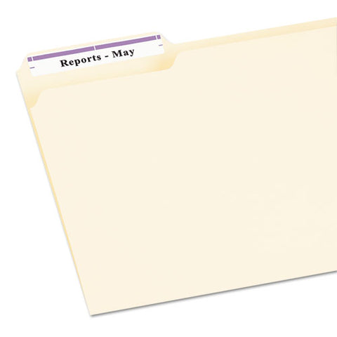 Permanent Trueblock File Folder Labels With Sure Feed Technology, 0.66 X 3.44, White, 30-sheet, 25 Sheets-pack