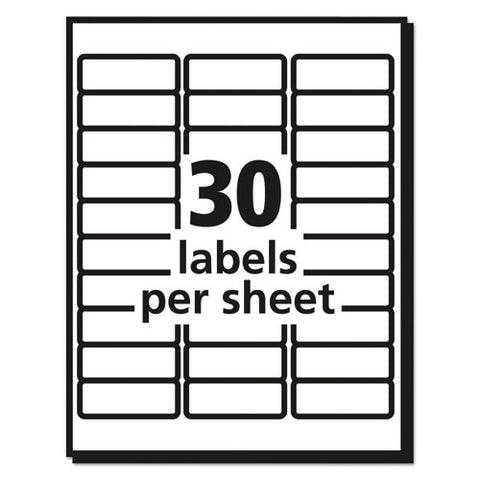 Matte Clear Easy Peel Mailing Labels W- Sure Feed Technology, Inkjet Printers, 1 X 2.63, Clear, 30-sheet, 25 Sheets-pack