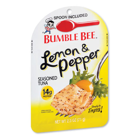 Ready To Enjoy Seasoned Tuna, Lemon And Pepper, 2.5 Oz Pouch, 12-carton