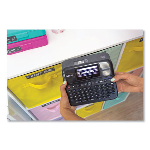 Pt-d600vp Pc-connectable Label Maker With Color Display And Carry Case, 30 Mm-s Print Speed, 8 X 7.63 X 3.38