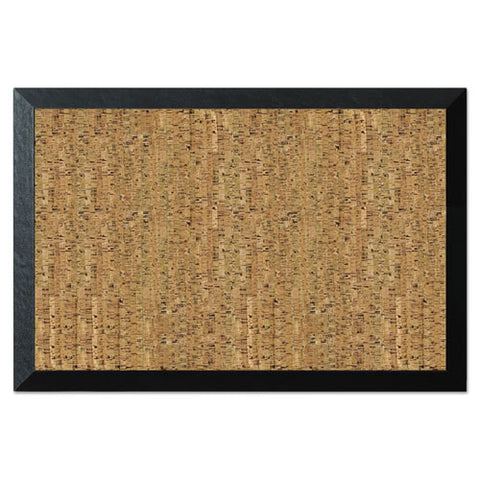 Natural Cork Bulletin Board, 36x24, Cork-black
