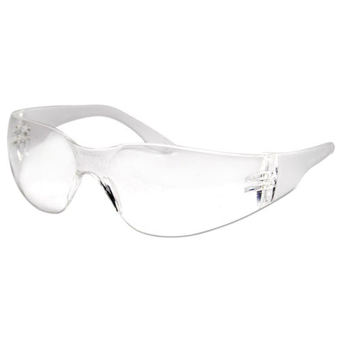 Safety Glasses, Clear Frame-clear Lens, Anti-fog, Polycarbonate, Dozen