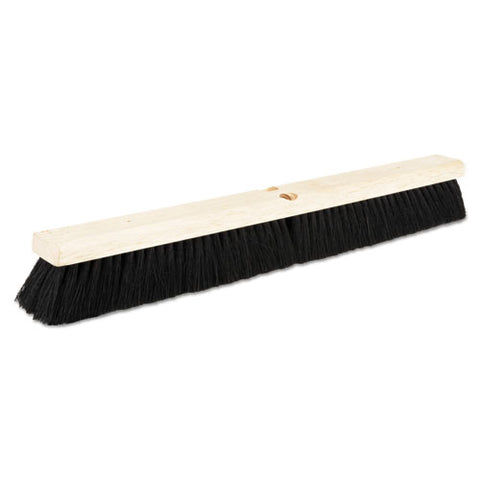"Floor Brush Head, 2 1-2"" Black Tampico Fiber, 24"""
