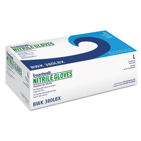 Disposable General-purpose Nitrile Gloves, Large, Blue, 100-box