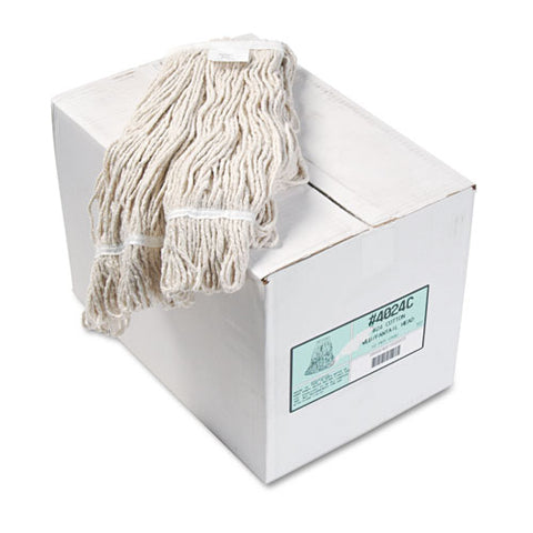 Pro Loop Web-tailband Wet Mop Head, Cotton, 12-carton