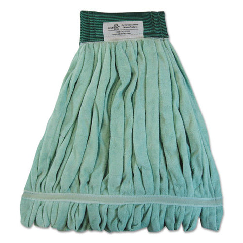 Microfiber Looped-end Wet Mop Head, Large, Green, 12-carton