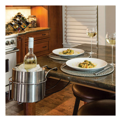 Wine By Your Side, Steel Frame-red Wine Adapter-ice Bucket, 161.06 Cu In, Stainless Steel