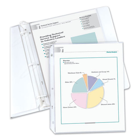 "Economy Weight Poly Sheet Protectors, Reduced Glare, 2"", 11 X 8 1-2, 200-bx"