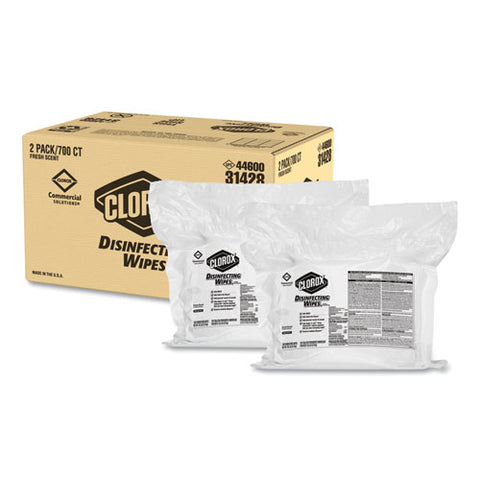 Disinfecting Wipes, Fresh Scent, 7 X 8, 700-bag Refill, 2-carton