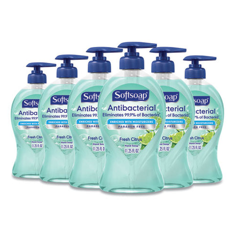Antibacterial Hand Soap, Fresh Citrus, 11 1-4 Oz Pump Bottle, 6-carton