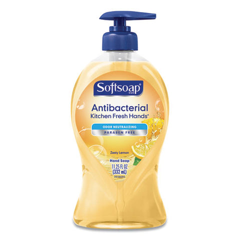 Antibacterial Hand Soap, Citrus, 11 1-4 Oz Pump Bottle, 6-carton