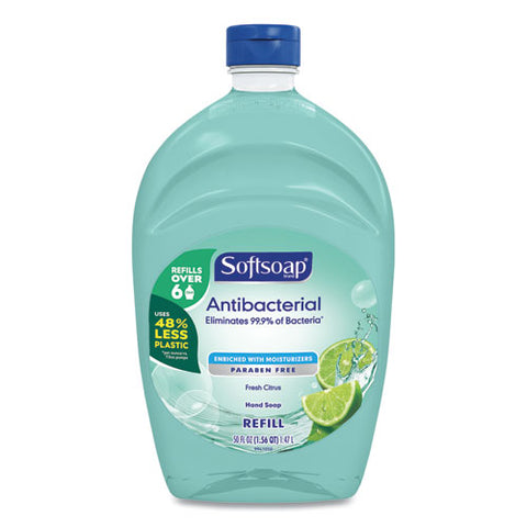 Antibacterial Liquid Hand Soap Refills, Fresh, Green, 50 Oz