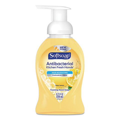 Sensorial Foaming Hand Soap, 8.75 Oz Pump Bottle, Zesty Lemon, 6-carton