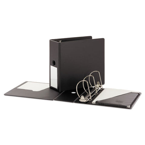 "Superstrength Locking Slant-d Ring Binder, 3 Rings, 5"" Capacity, 11 X 8.5, Black"