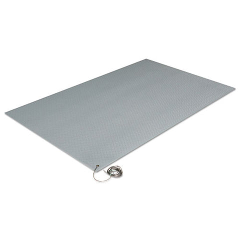Antistatic Comfort-king Mat, Sponge, 24 X 60, Steel Gray