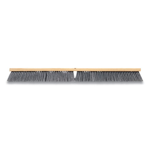 "Polypropylene Push Broom Head, 36"", Gray"