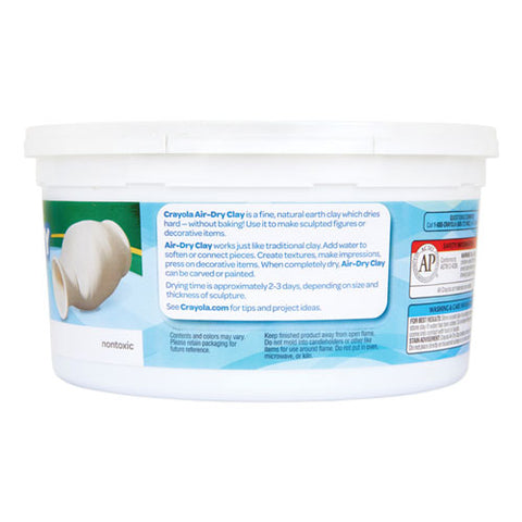 Air-dry Clay, White, 2 1-2 Lbs