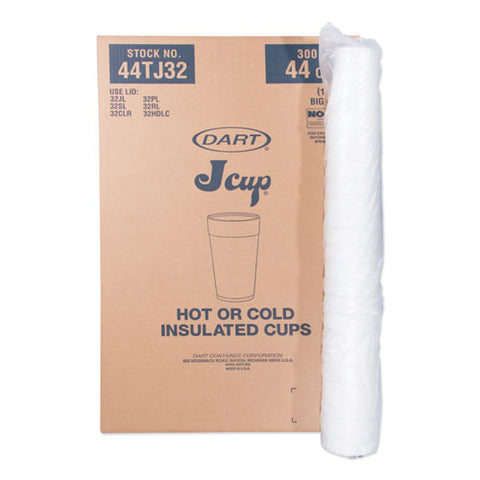 Foam Drink Cups, 44 Oz., Hot-cold, White, 20-bag