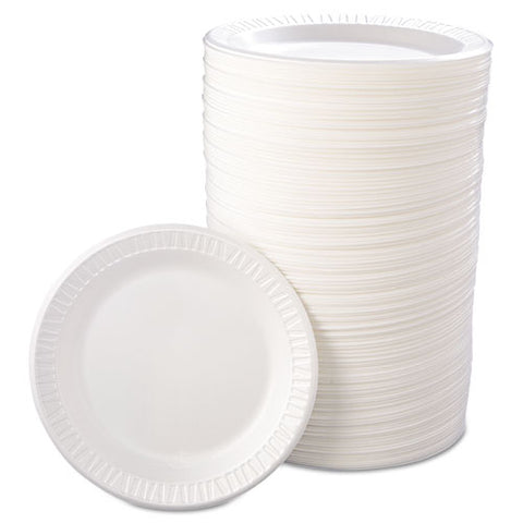 "Quiet Classic Laminated Foam Dinnerware, Plate, 9"" Dia, Wh, 125-pk, 4 Packs-ct"