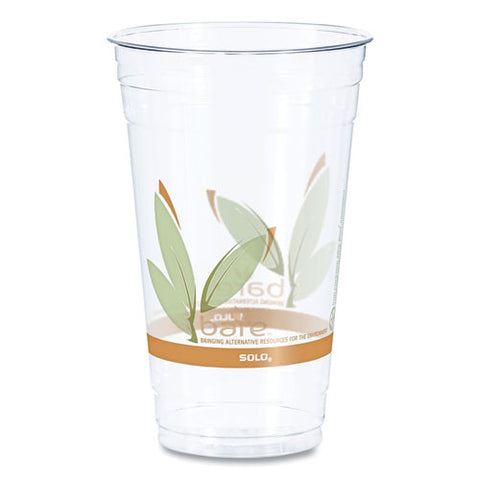 Bare Rpet Cold Cups, Leaf Design, 24 Oz, 50-pack, 12 Packs-carton