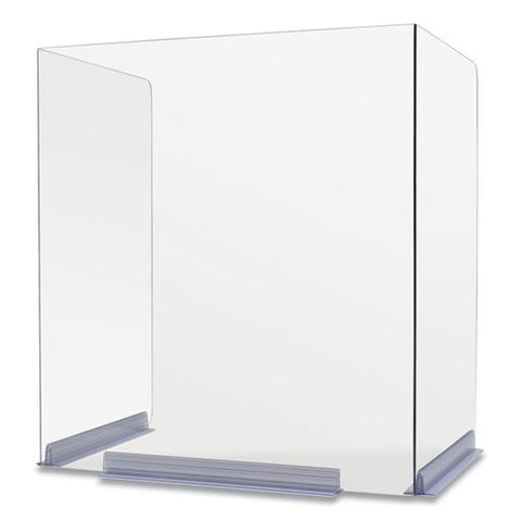Classroom Barriers, 18 X 14.5 X 20, Polycarbonate, Clear, 4-carton