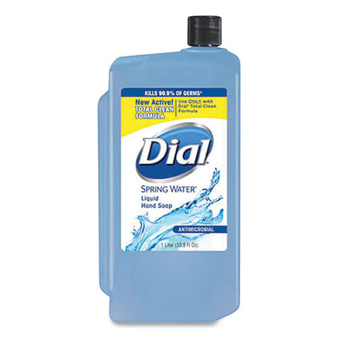 Antibacterial Liquid Soap, Spring Water, 1 L Refill, 8-carton