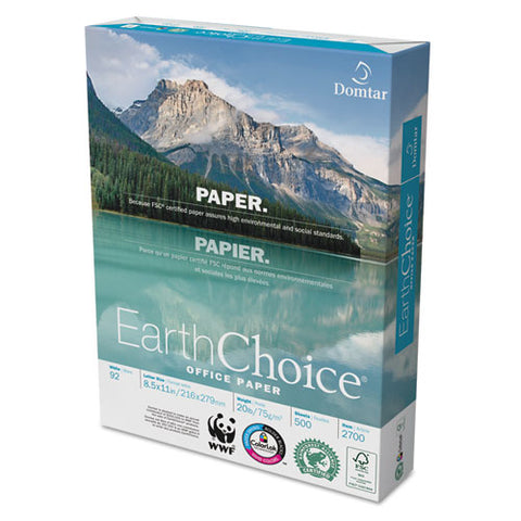 Earthchoice Office Paper, 92 Bright, 20 Lb, 8.5 X 11, White, 500 Sheets-ream, 10 Reams-carton