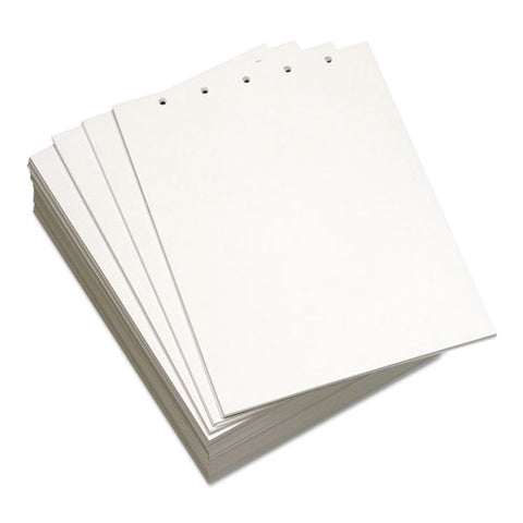 Custom Cut-sheet Copy Paper, 92 Bright, 5-hole, 20lb, 8.5 X 11, White, 500-ream
