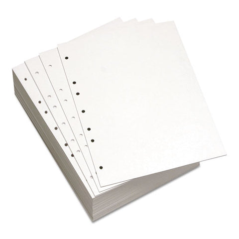 Custom Cut-sheet Copy Paper, 92 Bright, 7-hole, 20lb, 8.5 X 11, White, 500-ream