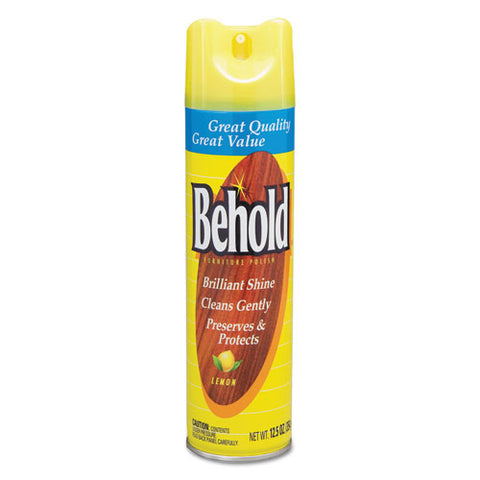 Behold Furniture Polish, Lemon, 6-carton