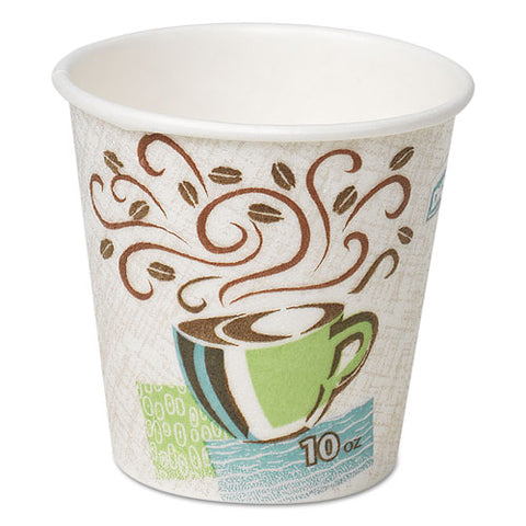 Hot Cups, Paper, 10oz, Coffee Dreams Design, 500-carton