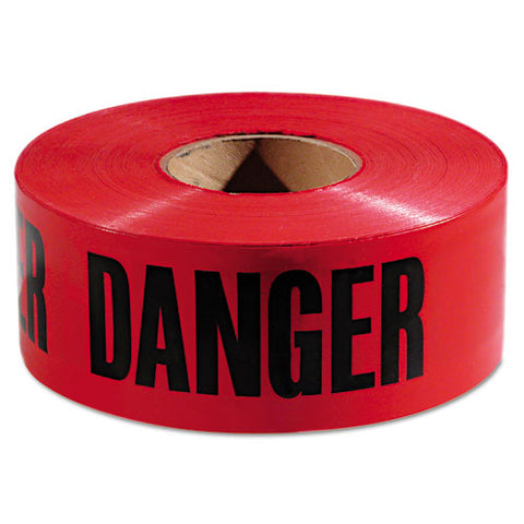 "Danger Barricade Tape, ""danger"" Text, 3"" X 1000ft, Red-black"