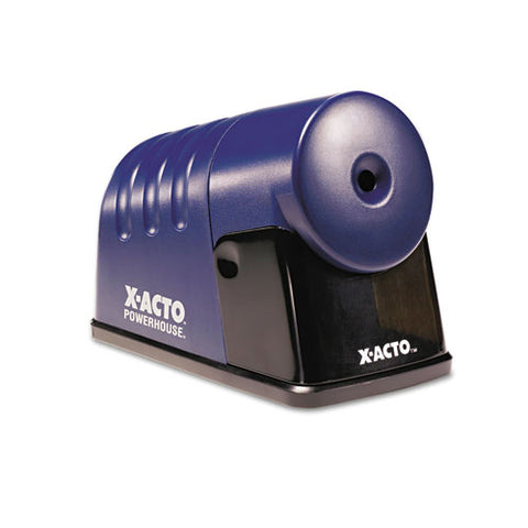 "Powerhouse Office Electric Pencil Sharpener, Ac-powered, 3"" X 6.25"" X 4.5"", Translucent Blue"