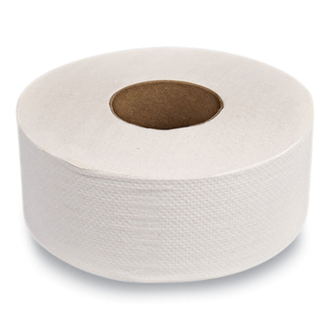 "Two-ply Jumbo Roll Toilet Paper, White, 9"" Dia. X 1,000 Ft, 12 Rolls-carton"