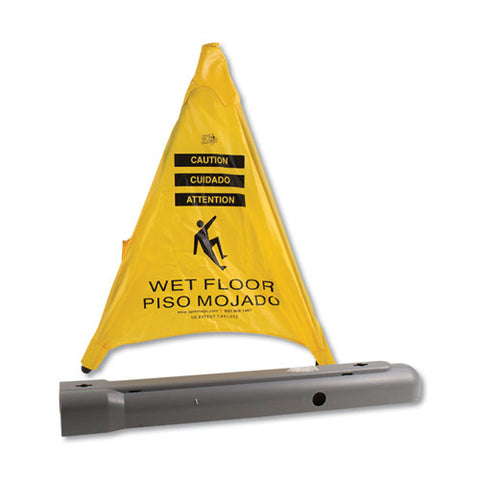 "Pop Up Safety Cone, 3"" X 2 1-2"" X 20"", Yellow"