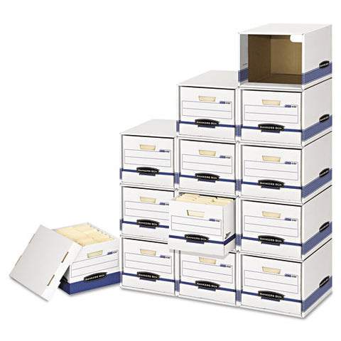 File-cube Box Shell, Legal-letter, 12 X 15 X 10, White-blue