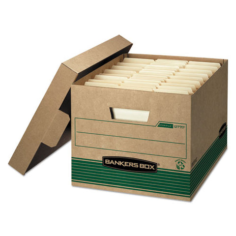 "Stor-file Medium-duty 100% Recycled Storage Boxes, Letter-legal Files, 12"" X 16.25"" X 10.5"", Kraft, 20-carton"