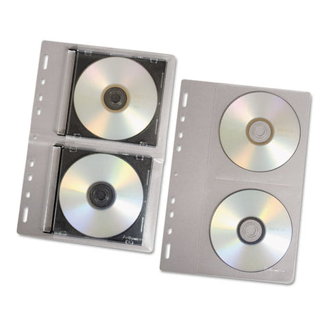 Cd-dvd Protector Sheets For Three-ring Binder, Clear, 10-pack