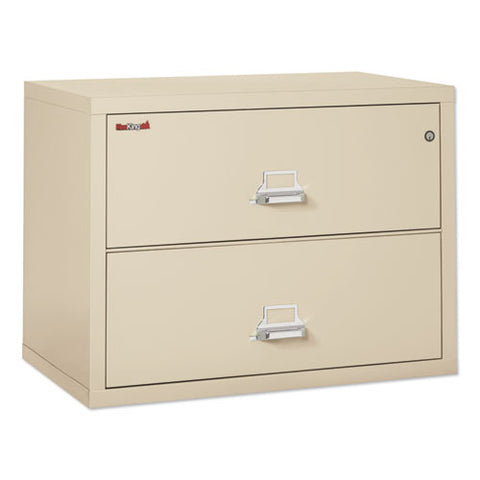 Two-drawer Lateral File, 37.5w X 22.13d X 27.75h, Ul Listed 350 Degree, Letter-legal, Parchment